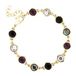 J by Jasper Conran - Designer double sided purple stone drop bracelet