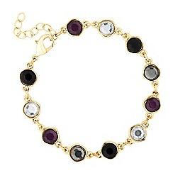 J by Jasper Conran - Designer double sided purple stone drop bracelet