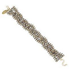 J by Jasper Conran - Designer grey diamante crystal twist bracelet