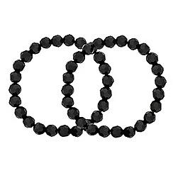 J by Jasper Conran - Designer jet bead stretch bracelet pack