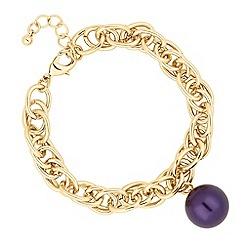J by Jasper Conran - Designer purple pearl drop link bracelet