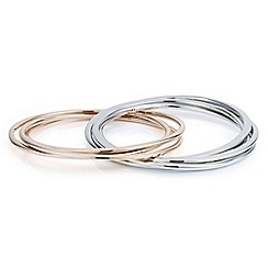 J by Jasper Conran - Designer two tone linked circle bangles