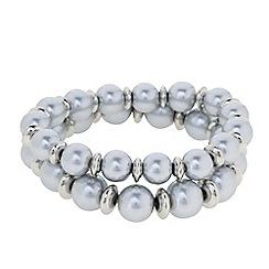 J by Jasper Conran - Designer grey pearl stretch bracelets