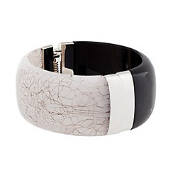 J by Jasper Conran - Designer monochrome hinged bangle