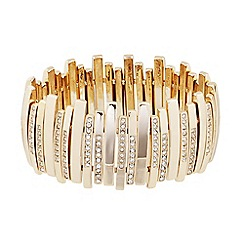 J by Jasper Conran - Designer crystal encased gold stick stretch bracelet