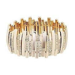 J by Jasper Conran - Designer crystal encased gold stick stretch bracelet
