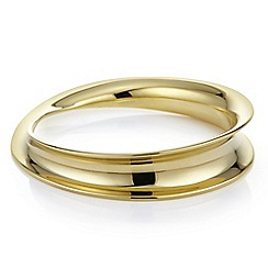 J by Jasper Conran - Gold curved architectural bangle