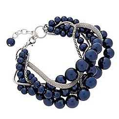 J by Jasper Conran - Designer blue pearl twisted bracelet