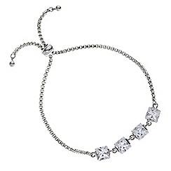 J by Jasper Conran - Cubic zirconia toggle bracelet