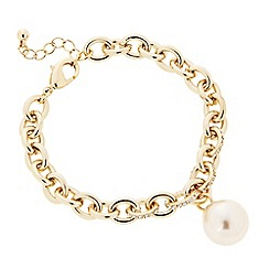 J by Jasper Conran - Designer pearl and crystal encased chain bracelet