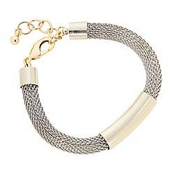 J by Jasper Conran - Designer two tone tubular bracelet