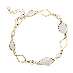 J by Jasper Conran - Designer mother of pearl effect crystal link bracelet