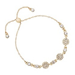 J by Jasper Conran - Designer gold crystal disc toggle bracelet