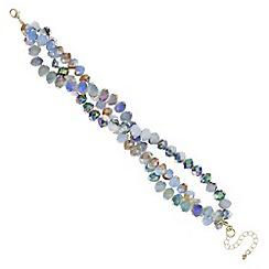 J by Jasper Conran - Blue twisted bead bracelet