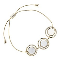 J by Jasper Conran - Designer mother of pearl circle toggle bracelet