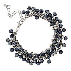 J by Jasper Conran - Designer Blue beaded multi row bracelet