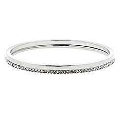 J by Jasper Conran - Designer silver pave set of two bangles