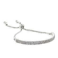 J by Jasper Conran - Designer silver curved pave toggle bracelet
