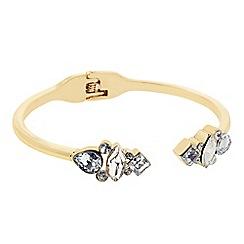 J by Jasper Conran - Designer gold mixed shape crystal bangle