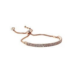 J by Jasper Conran - Designer Rose gold pave bar toggle bracelet