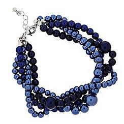 J by Jasper Conran - Designer blue twisted pearl bracelet