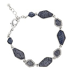 J by Jasper Conran - Designer blue glitter mixed shape bracelet