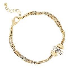 J by Jasper Conran - Designer gold crystal circle rhondel bracelet