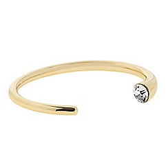 J by Jasper Conran - Designer gold crystal end open bangle