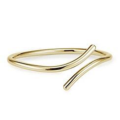 J by Jasper Conran - Designer Gold cross over open bangle