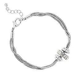 J by Jasper Conran - Designer silver crystal circle rhondel bracelet