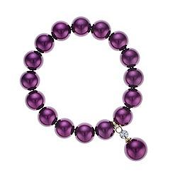 J by Jasper Conran - Designer purple pearl bracelet