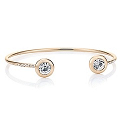 J by Jasper Conran - Designer rose gold crystal open bangle
