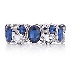 J by Jasper Conran - Designer blue and grey crystal stretch bracelet