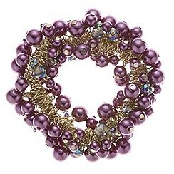J by Jasper Conran - Designer tonal purple bead shaker bracelet