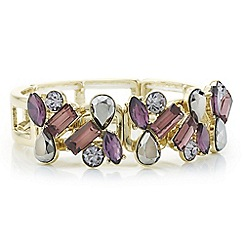J by Jasper Conran - Designer grey and purple crystal stone cluster bracelet