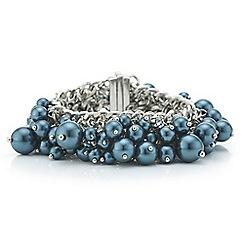 J by Jasper Conran - Designer teal pearl shaker bracelet