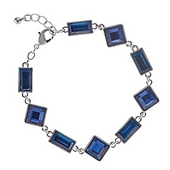 J by Jasper Conran - Designer blue and teal square link bracelet