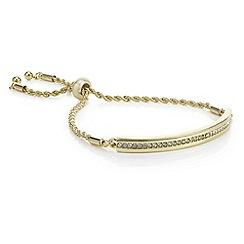 J by Jasper Conran - Designer gold crystal toggle bracelet