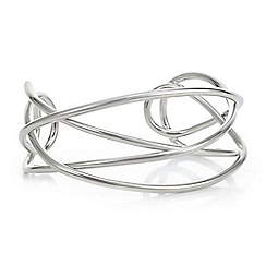 J by Jasper Conran - Designer silver cut out bangle