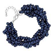 Designer navy blue beaded twist bracelet