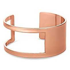 J by Jasper Conran - Designer rose gold cut out cuff bracelet