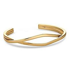 J by Jasper Conran - Designer gold open twist bangle