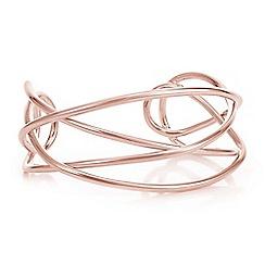 J by Jasper Conran - Rose gold intertwined bangle
