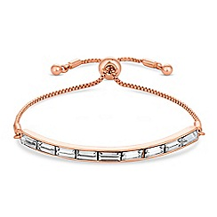J by Jasper Conran - Designer rose gold crystal toggle bracelet