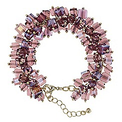 J by Jasper Conran - Designer purple beaded shaker bracelet