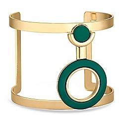 J by Jasper Conran - Designer green circle cuff bracelet