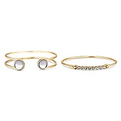J by Jasper Conran - Designer gold crystal bangle set