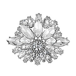 No. 1 Jenny Packham - Designer crystal floral brooch