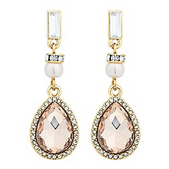 No. 1 Jenny Packham - Designer peach and pearl peardrop earring
