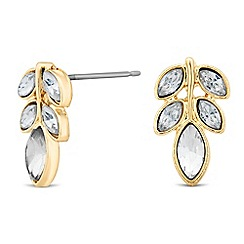 No. 1 Jenny Packham - Designer crystal leaf stud earring